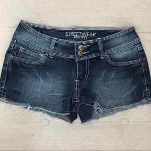Street wear Society cut off denim shorts. Size 7